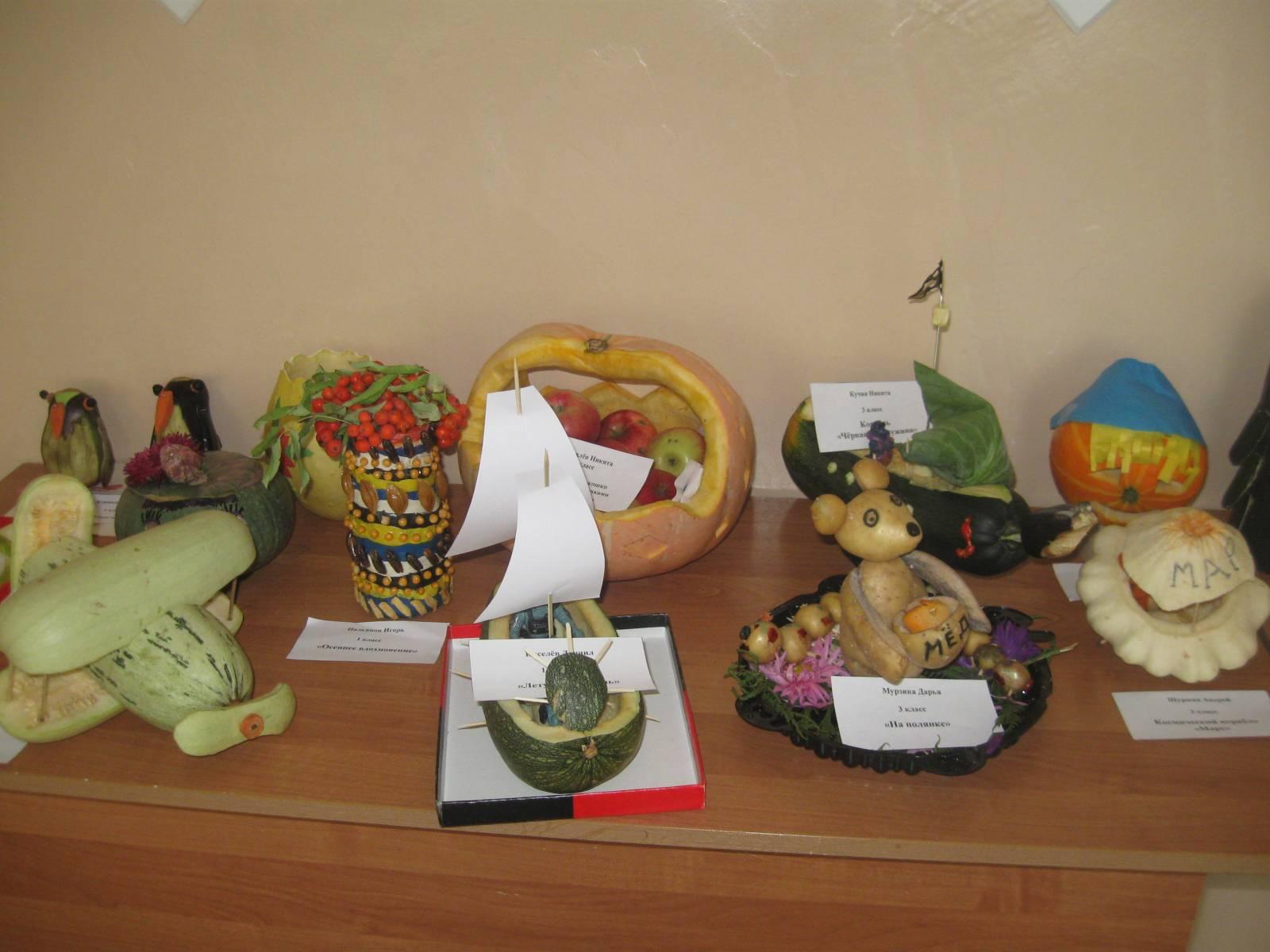 Поделки дары осени в школу 3 класс фото